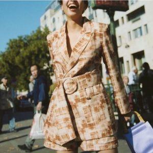 Free People Style Mafia Barb Suit Set Jacket Short